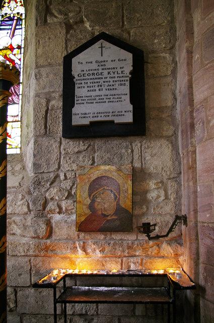 Memorial Tablet, St Mary the Virgin, Holy Island