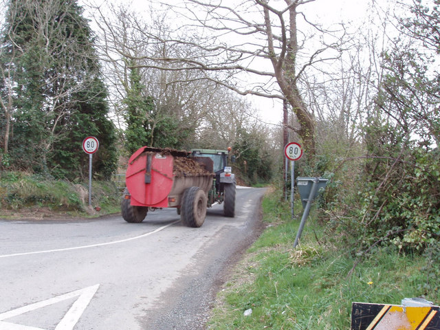 Tractor and manure cart, Piercestown