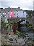 SN4562 : Bridge in Aberaeron by John Dalling