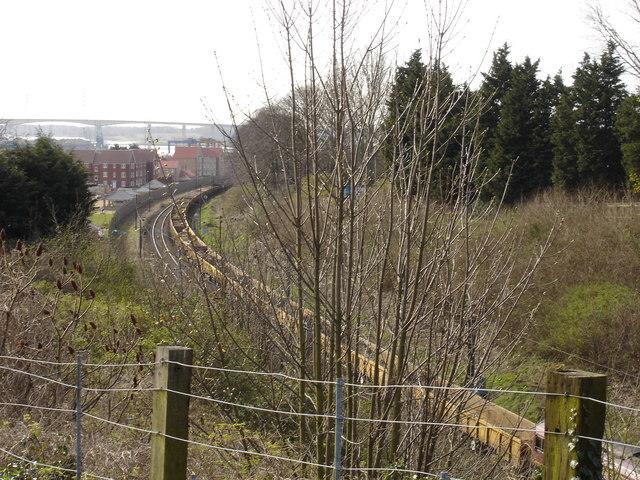 Railway line, Stoke Park