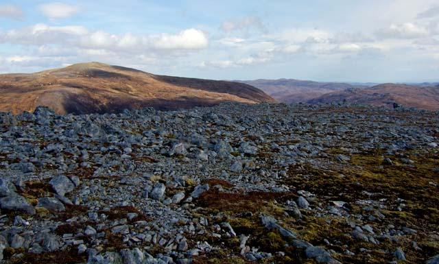 Rocky mountain terrain.