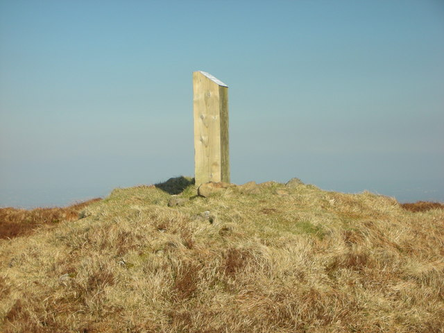 """Carntogher. """"The Summit Cairn And Marker Post"""""""