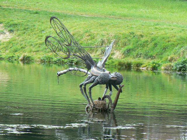 Dragonfly sculpture, 14 Locks centre