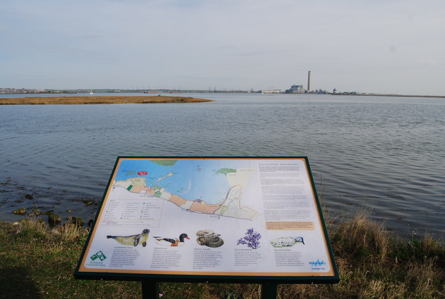 Eastern end of an island in the Copperhouse Marshes