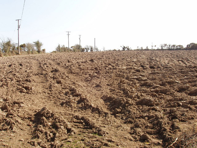 Ploughed field East of Forth Mountain