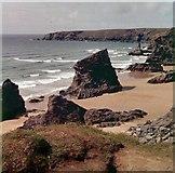 SW8469 : Bedruthan Steps by M J Richardson