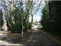 SP2865 : Warwickshire County Record Office drive off Cape Road by Robin Stott