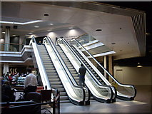 NJ9406 : Escalators in the Bon Accord centre by Stanley Howe