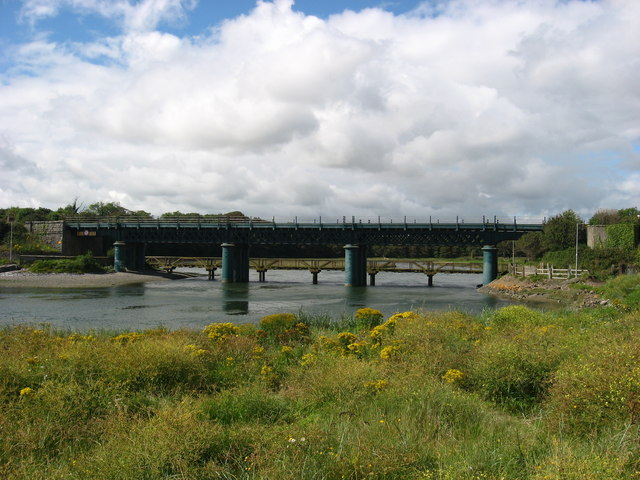 Railway viaduct and footbridge at Laytown, Co. Meath