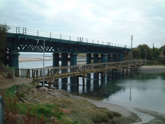 Railway viaduct and footbridge at Laytown, Co. Meath