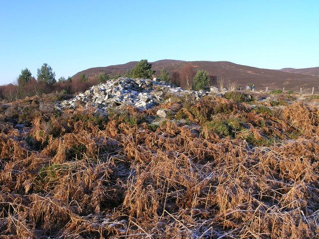 Chambered Cairns amid frosty bracken