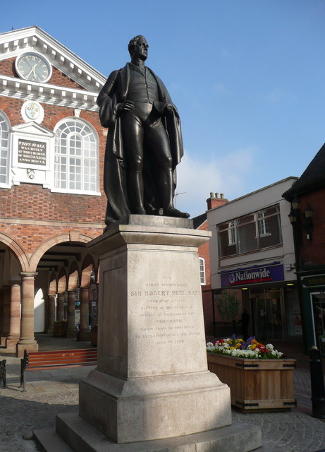 Statue of The Right Honourable Sir Robert Peel Bart.