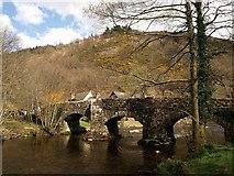 SX7489 : Fingle Bridge by Derek Harper