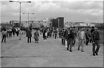 TQ1985 : Looking back down Olympic Way at Wembley Stadium by Steve Daniels