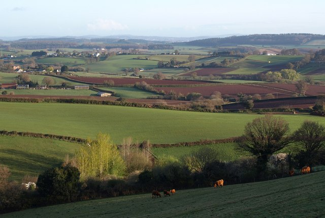 Countryside north of Dawlish