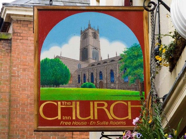 Church Inn sign by Mike White
