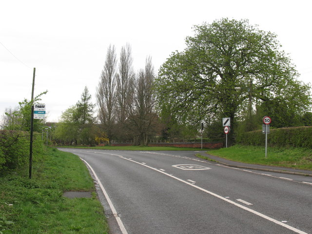 Junction of A5190 Lichfield Road and Woodhouses Road