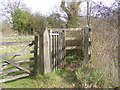 TM3761 : Kissing Gate on the Bridleway to Kiln Lane by Adrian Cable