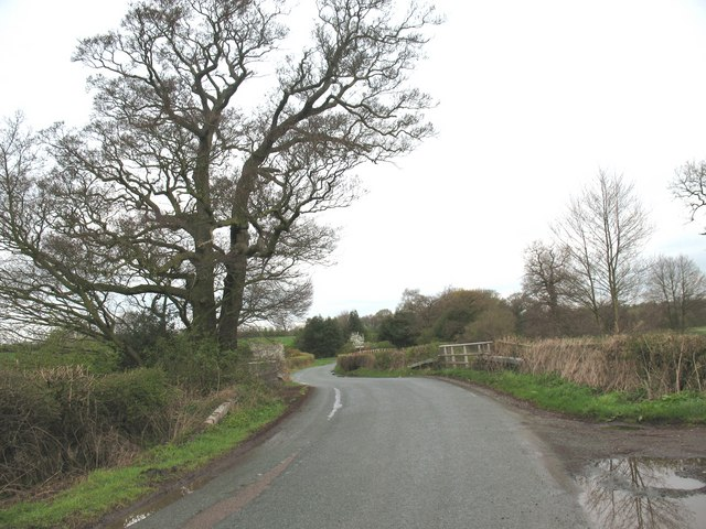 Coulter Lane crosses a brook
