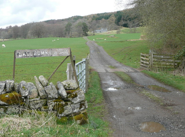 The track to Ballachraggan