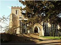 TL3852 : The parish church of Harlton by Robert Edwards