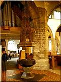 SD5192 : Holy Trinity Church, Kendal, Font by Alexander P Kapp