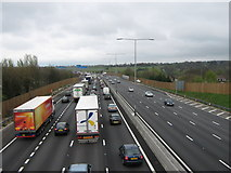 TQ5571 : Queuing Traffic on M25 by David Anstiss