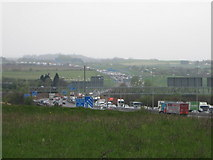 TQ5571 : Queues on M25 near Junction 2 by David Anstiss