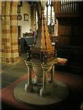 SD4983 : St Peter's Church, Heversham, Font by Alexander P Kapp