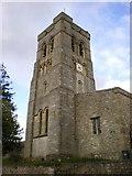 SD4983 : St Peter's Church, Heversham, Tower by Alexander P Kapp