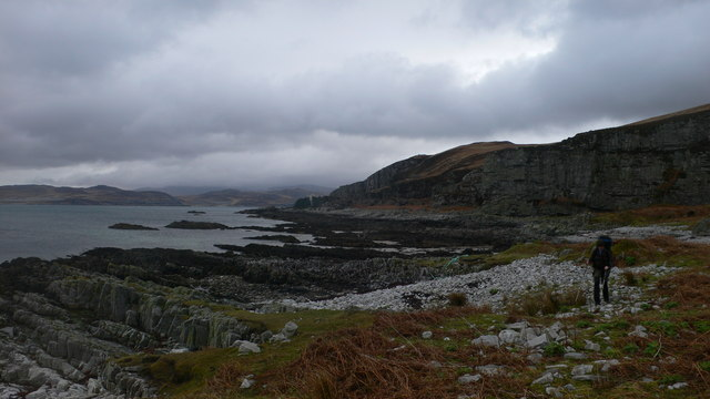 Looking north to Rubh' a' Chrois-aoinidh and northern Jura