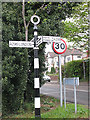 TQ5473 : Old road sign on the Dartford bypass by Stephen Craven