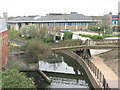 TQ5474 : Footbridge across the River Darent by Stephen Craven