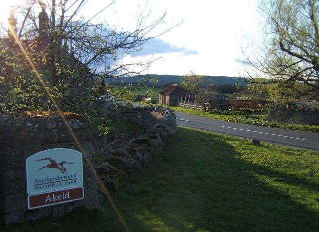 National Park Sign, Akeld