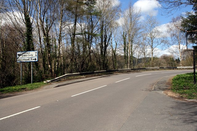 The A470 at Betws-y-Coed