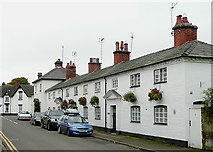 SJ9922 : Trent Lane Cottages, Great Haywood, Staffordshire by Roger  Kidd
