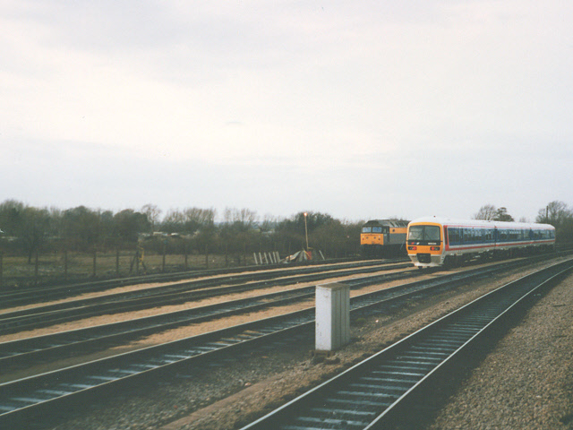 Sidings north of Oxford station