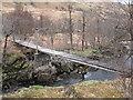 NN0936 : Footbridge over River Kinglass by CBL