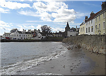 NO5603 : Sea wall, Anstruther by michael ely
