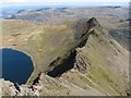 NY3414 : Striding Edge and Red Tarn by Gareth James