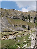 SD9163 : Limestone cliffs of Gordale, near Malham by Gareth James