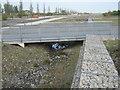 TR3554 : Metal bridge into Fowlmead Country Park by David Anstiss