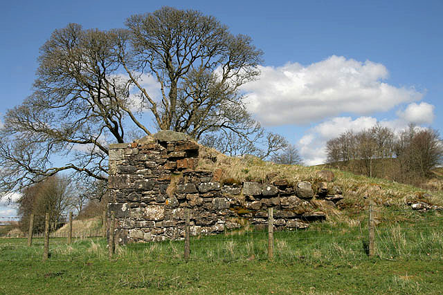 The remains of Mangerton Tower