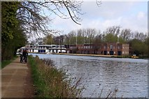 SP5105 : Oxford college boathouses on the Isis by Steve Daniels