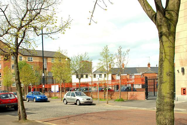Development site, College Square North, Belfast (April 2009)