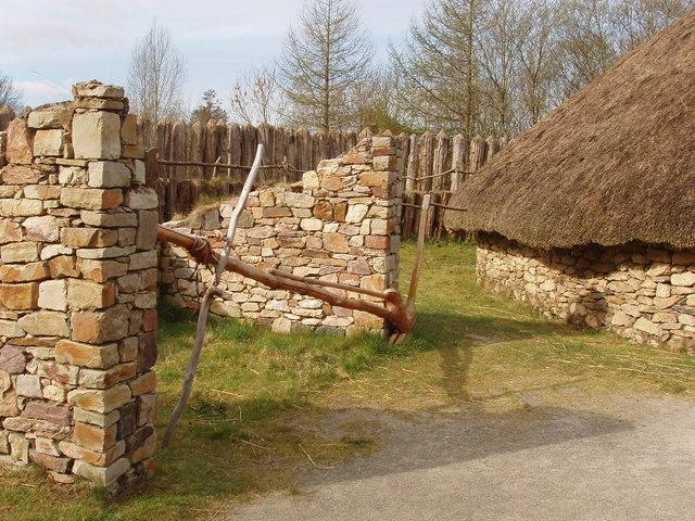 Plough at ringfort, Irish National Heritage Park