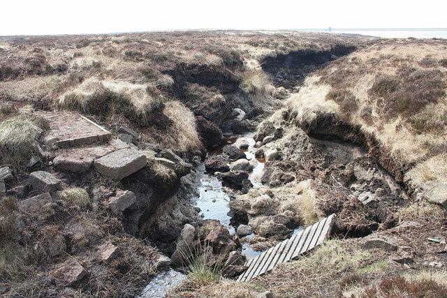 Former footbridge near Little Dove Lowe