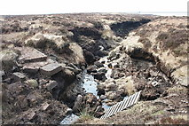 SD9620 : Former footbridge near Little Dove Lowe by Kevin Rushton