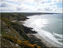SM8422 : Newgale Sands from the northwest end by Richard Law