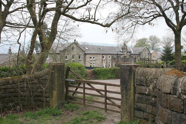 The rear of Stoodley Grange